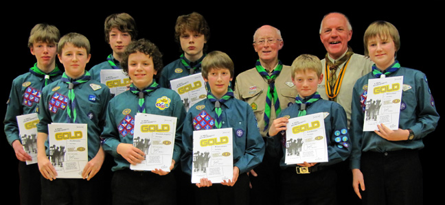 Gold Chief Scout Award 2012